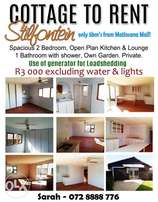 Cottage for rent in Stilfontein