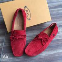 New Red Suede Tod's Loafers Men Shoe For Sale!