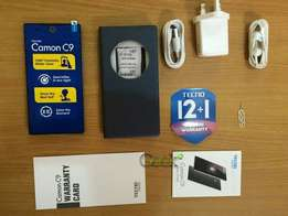 Brand new inbox techno camon c9 and Accessories we will give u 1 year