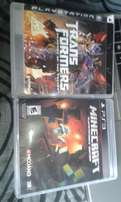 PS3 Games in good condition , Mine craft , Transformers