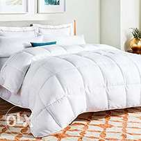 White Down Alternative Quilted Comforter/6*6/ 7*6 duvets