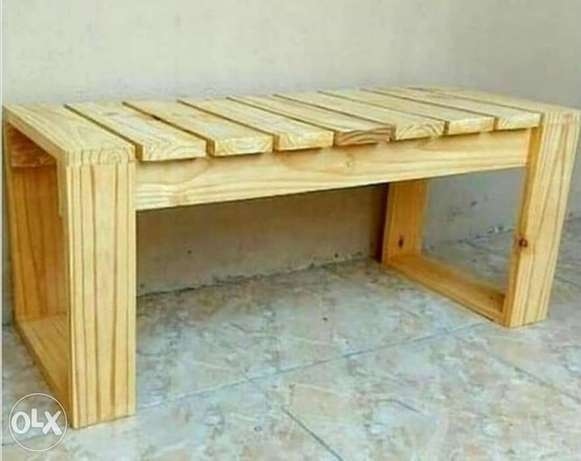 Banch Creative wood 120x50 classic vintage style بنك خشب شغل يدوي