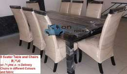 Dinning table 8 seater R7500 6 seater R6500