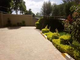 Three bedroom house with a big compound and perimeter wall