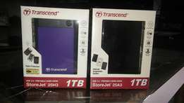 1 TB Transcend External Hard Drive For Sale