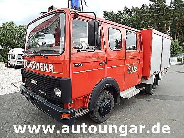 Iveco Magirus 75-14 LF 8/6 Pumpe Wassertank Feuerwehr - 1991