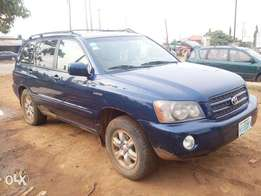 Toyota Highlander Blue First Body