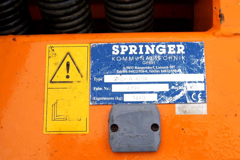 Springer SHE-A 4104 / + Seitenpflug / Schneepflug / Schneeschild - 2005 - image 15