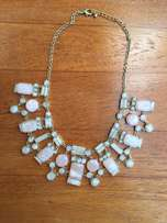 Soft pink, cream and gold necklace