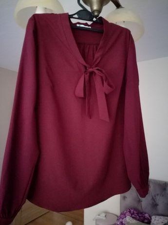 625475a191 Nowa bluzka elegancka wizytowa 36 S bordowa marsala Łańcut - image 1