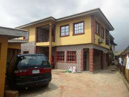 Fine renovated 3 bedroom flat all tiles floor fenced water at Baruwa