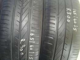 165/60/15 Second hand tyres