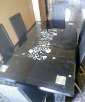 Quality Glass dining table with chairs