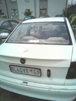 Lady driven Opel astra