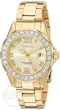 Invicta Women's 15252 Pro Diver Gold Dial Gold-Plated Stainless Steel
