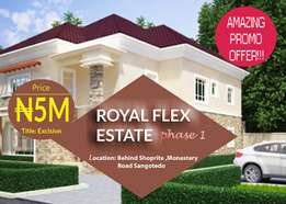 Royal plots for sale in Sangotedo with Excision