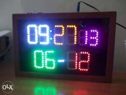 Led time and date display