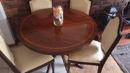 4 seater dining room table and side server table