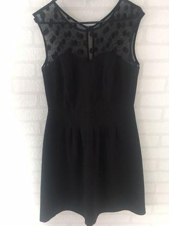 2fe3ae187c Elegancka czarna rozkloszowana sukienka z siatka na dekolcie na wesele  Międzyrzec Podlaski - image 1