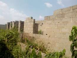 An uncompleted 2unit of mini flat on half plot at Gberigbe ikorodu