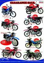 Lifan motorcycles(Clearance sell)125cc&150cc,are available