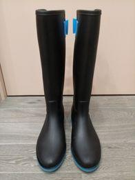 Резиновые сапоги черные элегантные р.38 24 1a95f91f5c81b