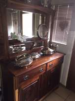 BEAUTIFUL Antique Sideboard with Bevelled mirror.