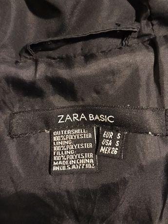Kurtka zimowa Zara S36 czarna z futrem Kraków Podgórze