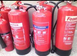 Fire extinguishers (H2O,CO2 5kg)