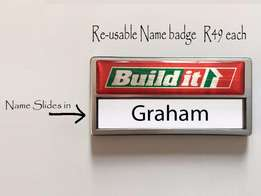 Quality name badges for your business