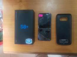 Uk usee open box 64gb Samsung s8+ with batt3 case rechargeable
