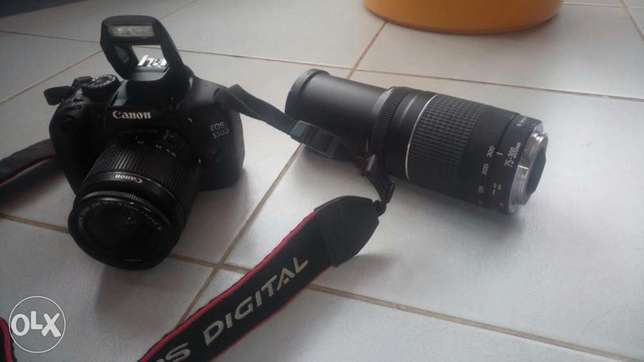 Canon EOS 550D complete with extra 75-300 zoom lens and carry bag for Langata - image 1