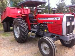 Massey Ferguson Kenya MF 375 Tractor/New Tipping Trailer/3 Disc Plough