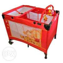 second hand winnie the pooh camp cot for sale