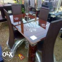 Exquisite 4 Seater Glass Dining Table (New)