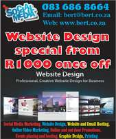 Website Design and email setup from R1000 / Computer repairs