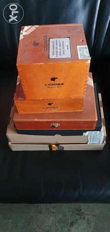 Cigar wooden boxes collection