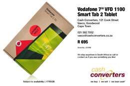 "Vodafone 7"" VFD 1100 Smart Tab 2 Tablet"