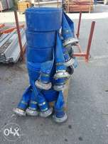 Delivery hose, durable heavy duty plastic with interlocking heads