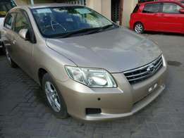 Toyota Axio G grade . 2010 model KCM number. Loaded with alloy rims ,