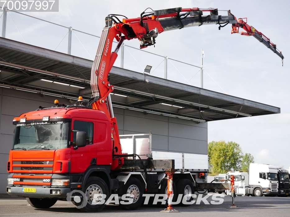 Scania P124G 400 8X4 Fassi F600.24 Fly-jib Manual Retarder - 1998