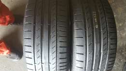 4×225/50/17 Tyres still in good condition 75% runflat
