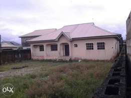 this three bedroom bungalow is for sale on a full plot Awoyaya 15M
