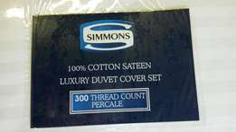 Simmons Egyptian cotton sateen luxury 300 thread count duvet covers