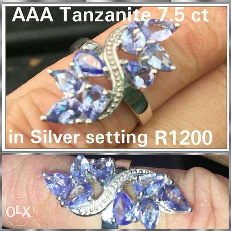 Silver ring with gemstones Brakpan - image 1