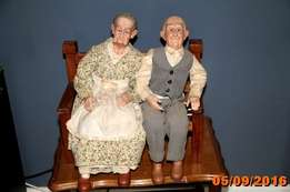 Grandfather and Grandmother dolls for sale