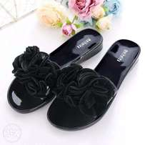 Jelly flowered PVC Slippers