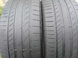 2 X 275/50/20 continental contactsport5 Tyres for sell