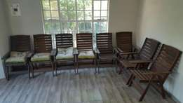 8 Wooden Patio Chairs