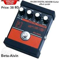 New RV-200 DIGITAL REVERB Guitar effect pedal now available in stock.